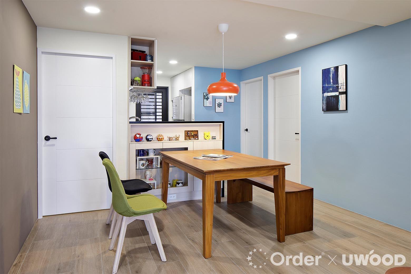 舊屋翻新案例餐廳餐桌收納功能