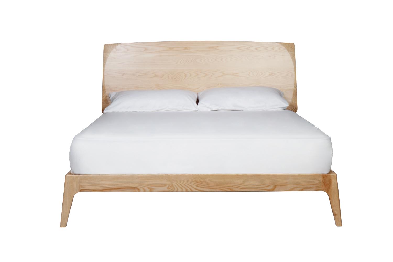 浪板實木床架北歐風格臥室床架