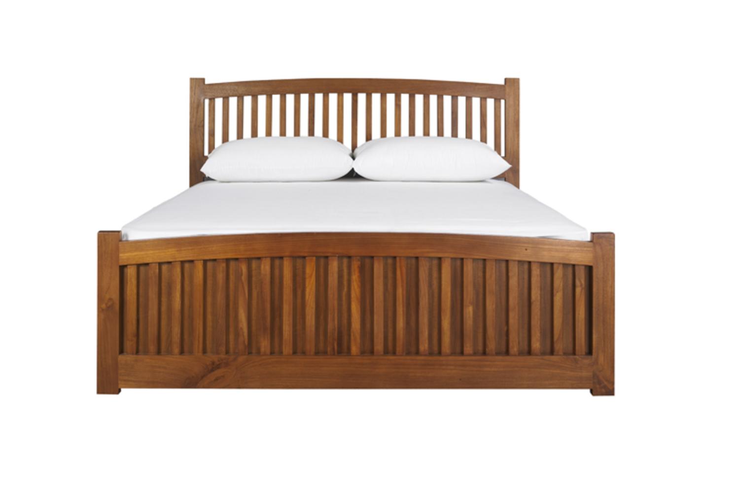 G款柚木實木床架 北歐風格臥室單品